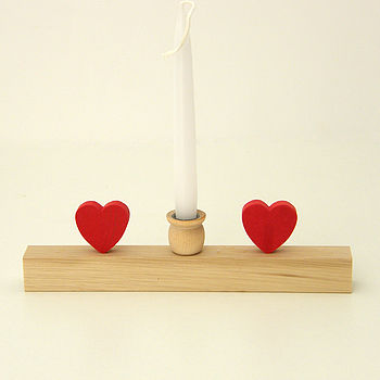 Small Candle Holder With Hearts