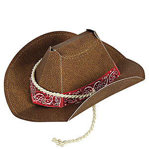 Set Of Eight Cowboy Or Cowgirl Party Hats - fancy dress