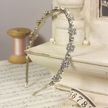 Bridal Floral Crystal Alice Band