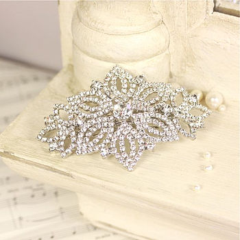 Bridal Crystal Lotus Flower Hair Clip