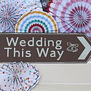 Metal Wedding Sign