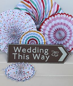 Metal Wedding Sign - outdoor decorations