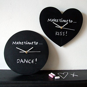 'Make Time' Blackboard Clock - bedroom
