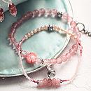 Vintage Style Gemstone And Pearl Bracelet Set