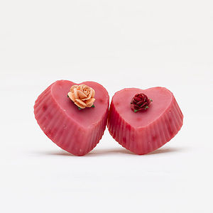 Two Organic Soap Hearts - bath & body