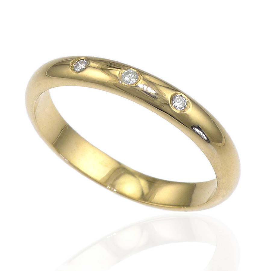 three wedding ring by lilia nash jewellery