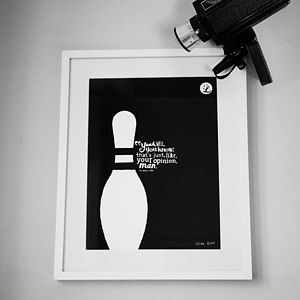 Big Lebowski 'Your Opinion' Art Print - contemporary art
