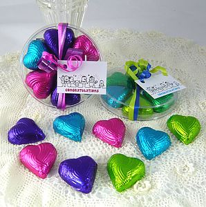 Foiled Chocolate Hearts Favours - children's parties