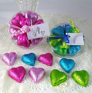 Foiled Chocolate Hearts Favours - cakes & treats