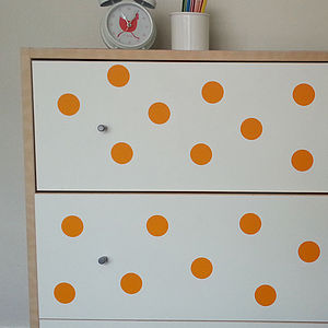 Spotty Furniture Stickers - bedroom