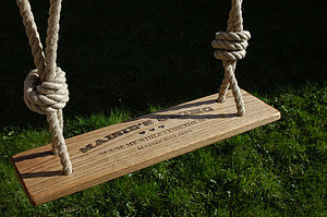 Personalised Handmade Rustic Oak Garden Swing - games