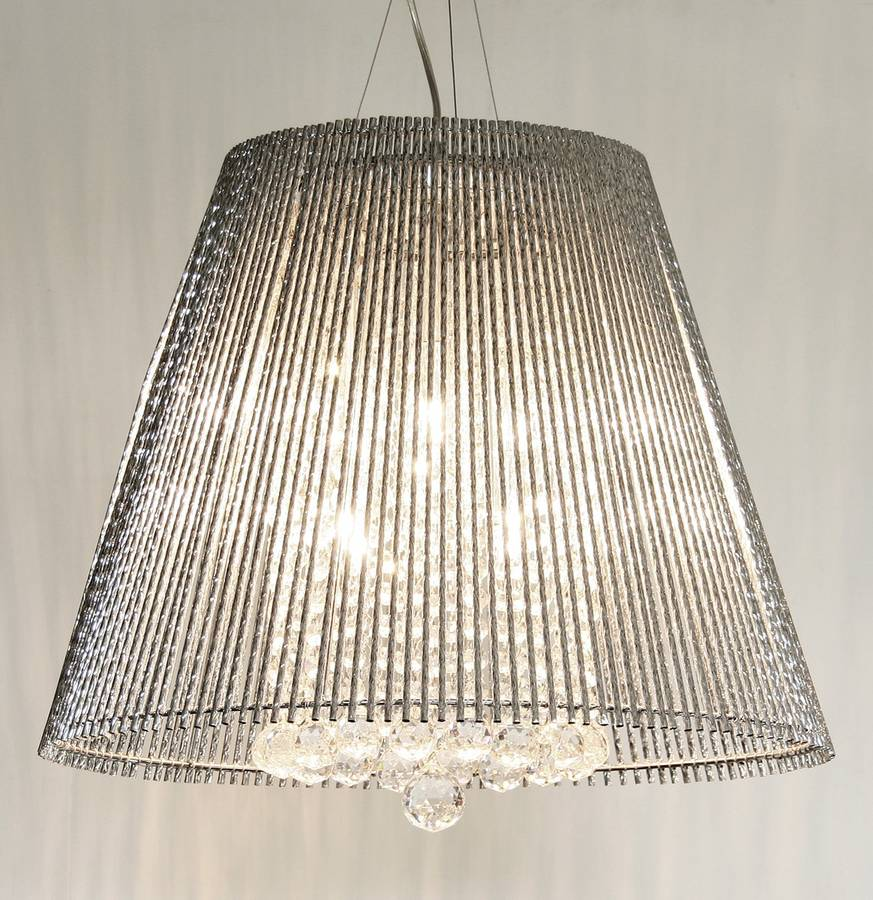 drum chandelier item pendant crystal light with beaded shade zoom