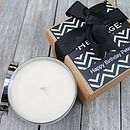 Mens Candle In A Personalised Gift Box