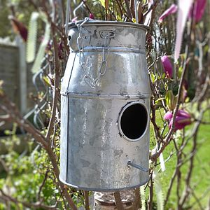 Milk Churn Birdhouse - birds & wildlife