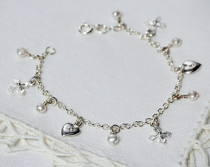 Cross & Heart Teeny Bracelet - christening gifts