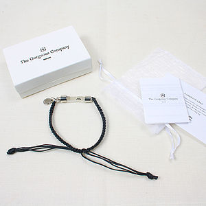 Personalised Rice Grain Bracelet - for him