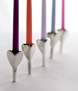 Heart Party Cake Candleholders