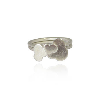 Little Fluffy Clouds Silver Stack Rings