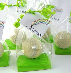 Chocolate GOLF BALL Favour - wedding favours