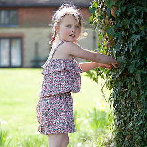 Girl's Cotton Summer Playsuit - children's dresses