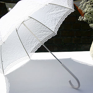 Lace Victorian Wedding Umbrella - umbrellas & parasols