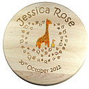 Personalised Child's Giraffe & Duck Stool with Colour