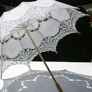 Handmade Lace Wedding Parasol - women's accessories