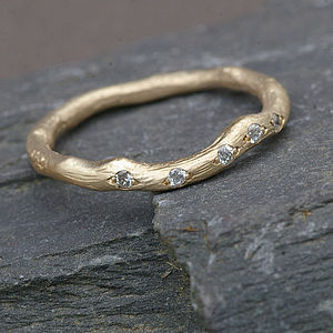 Gold And Diamond Eternity Ring - april birthstone
