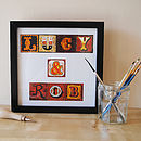 Small Personalised Alphabet Print