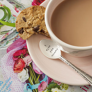'I L♥Ve You Mummy' Silver Plated Spoon