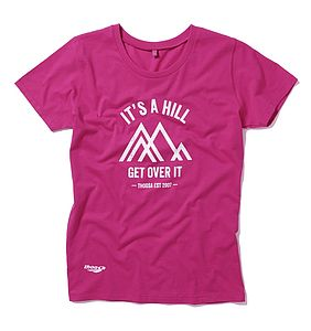 It's A Hill Get Over It Slogan Tee - women's fashion