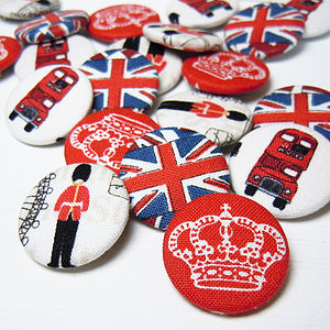 Great British Fabric Badge Set