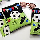 Personalised Football Range, glasses case, bookmark & Kindle Cover