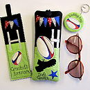Personalised Rugby Sport Range, glasses case, keyring, bookmark & Kindle