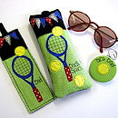 Personalised Tennis Sport Range, Glasses Case, Keyring, Bookmark & Kindle Cover