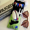 Personalised Rugby Glasses Case