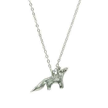 Silver Why Hello Mr Fox Necklace
