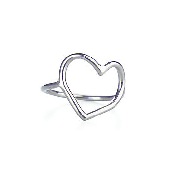 My Heart Is Open Ring In Silver