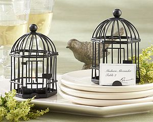 Birdcage Tealight And Place Card Holder - wedding favours