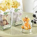 Set Of Four 'Born To Be Wild' Animal Candles
