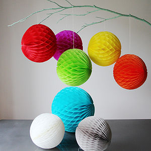 Paper Luxe 20cm Honeycomb Tissue Balls - room decorations