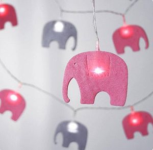 Child's Elephants Fairy String Lights