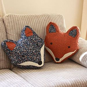 Vintage Inspired Fox Cushion - cushions