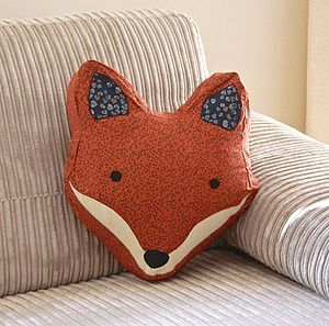 Vintage Inspired Fox Cushion - living room