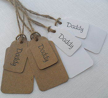 Pack Of Two Daddy Gift Tags