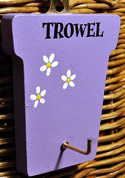 Hand Painted Wooden Trowel Hook