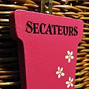 Hand Painted Wooden Secateurs Hook