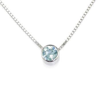 Aquamarine Necklace March Birthstone