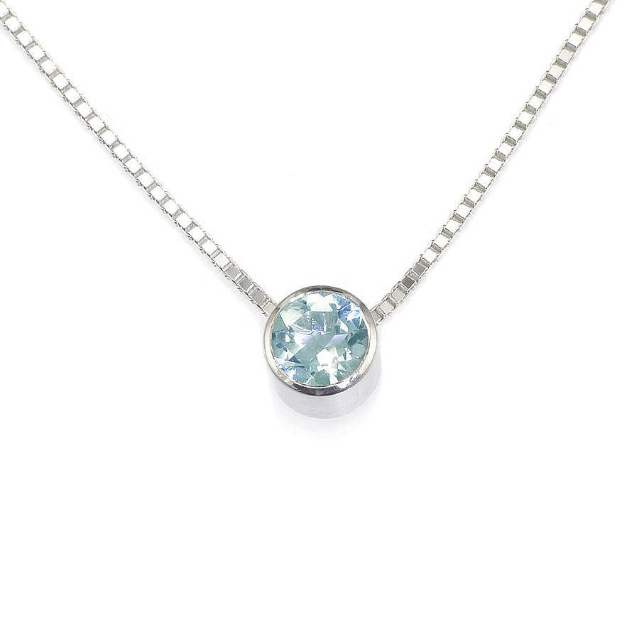 aquamarine necklace march birthstone by lilia nash ...