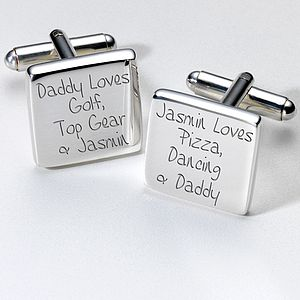 Personalised Favourite Things Dad Cufflinks - men's jewellery